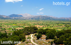 Lassithi prefecture crete island hotels and apartments greece
