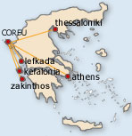 Map of Corfu