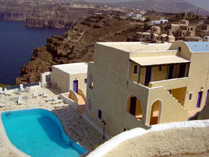 Atlantida Holiday Club Hotel,Akrotiri,Santorini,Thira,Cyclades Islands,Aegean Sea,Volcano,Caldera