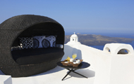 Greece,Greek Islands,Cyclades,Santorini,Fira,Blue Angel Villa