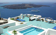 Greece,Greek Islands,Cyclades,Santorini,Firostefani,Vallas Traditional Apartments
