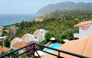 Sandy Bay Hotel, Agios Isidoros, Mytilini, Lesvos, Lesbos, North Aegean Islands, Greek Islands, Greece, Panoramic View, Swimming Pool, Agios Isidoros Beach, Plomari, Sea