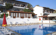 Rene Hotel, Agios Fanourios, Megalh Ammos beach, Skiathos island,with swimming pool