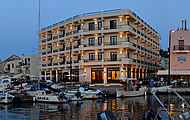 Greece, Crete, Chania, Old Harbour, Porto Veneziano Hotel