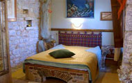 Greece, Peloponissos, Laconia, Mani, Elixirion Hotel, with fireplace