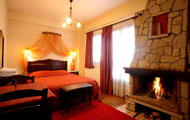Traditional Guesthouse Fretzato Apartments, Elati, Trikala, fireplace, panoramic view