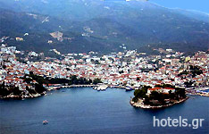 The Town of Skiathos Island