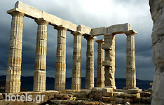 The Ancient Temple of Poseidon, in Sounio
