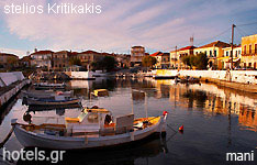 mani hotels and apartments Peloponnese greece